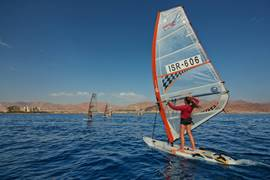Sailboarding in the Red Sea, Eilat