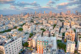 Tel Aviv panorama by day