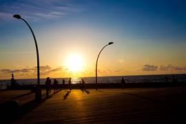 Tel Aviv Port - the promenade