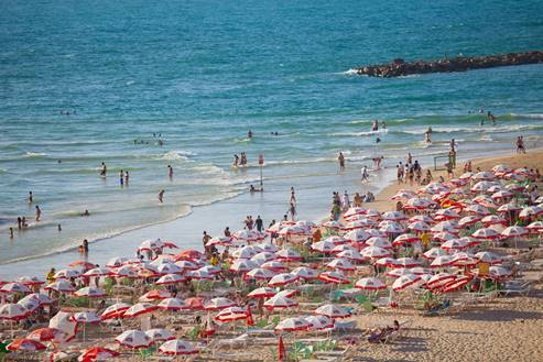 Tel Aviv Umbrellas Beach