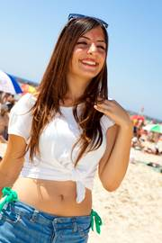A Girl In A Tel Aviv Beach