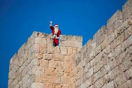 Santa Claus in Jerusalem 2