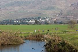 Biking Around The Hula Lake