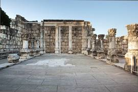 The Ancient Synagogue In Capernaum