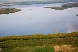 The Hula Lake - Aerial View