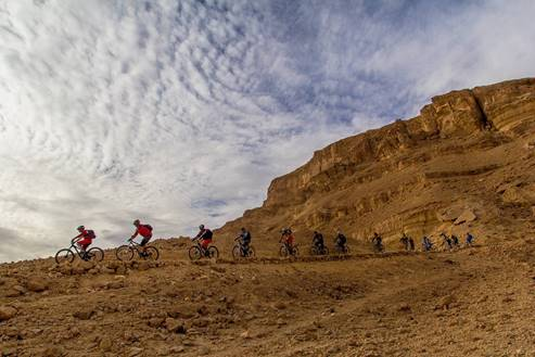 Riders Caravan In The Ramon Crater