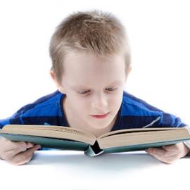 ילד קורא ספר - A boy reading a book