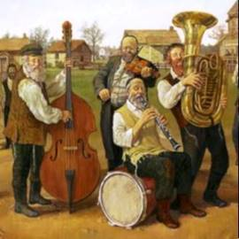 Klezmer Painting - ציור של כליזמר