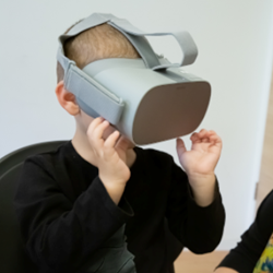 A Boy Wearing Virtual Reality Glasses - ילד מרכיב משקפי מציאות מדומה