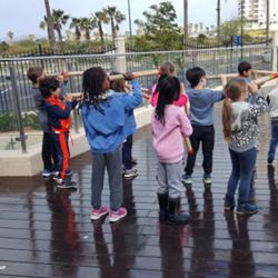 Children Using A Telescope - ילדים משתמשים בטלסקופ