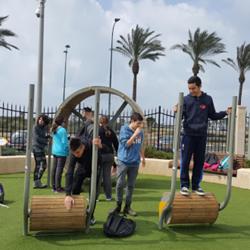 Children Play In Planetanya - ילדים משחקים בפלנתניה