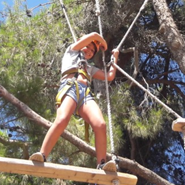 A Girl Climbing In Etgar-BaHar Rope Park - ילדה מטפסת בפארק החבלים אתגר בהר