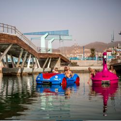 מלון אסטרל פלמה - אנשים שטים בסירות פדלים -  Astral Palma Hotel - People in Pedal Boats