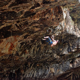 Picture of Adam Ondra Climbs First 5.14d in Israel