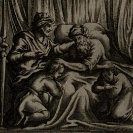 ציור של יעקב מברך את יוסף - A Painting Of Jacob Blessing Josepg