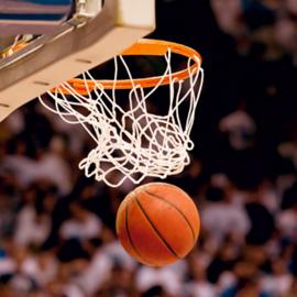 כדור נכנס לסל במשחק כדורסל - The Ball Enters The Basket In A Basketball Game