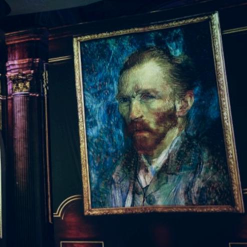 פורטרט עצמי של וינסנט ואן גוך בתערוכה - The Self Portrait Of Vincent Van Gogh At An Exhibition