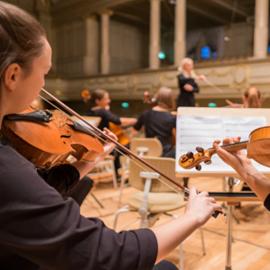 נגני כלי קשת בקונצרט - String Musicians At A Concert