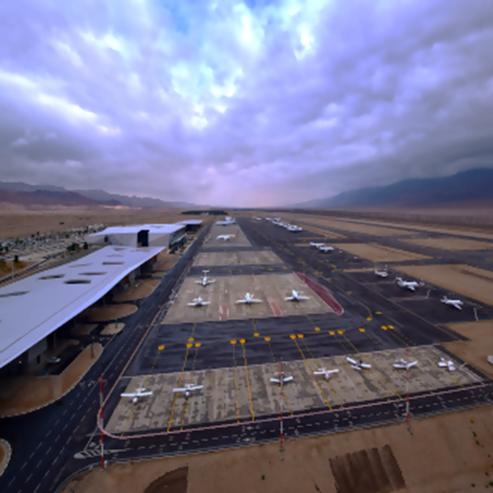 שדה תעופה רמון זוית צילום מלמעלה - Ramon Airport High Angle Shot