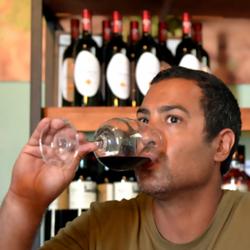 A man drinking wine  - גבר לוגם יין