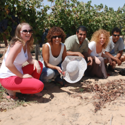Happy people in the Winery - אנשים שמחים ביקב